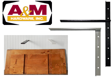 A&M Hardware's new concealed shelf brackets
