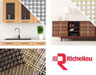 Richelieu Hardware now offers a decorative wire mesh program