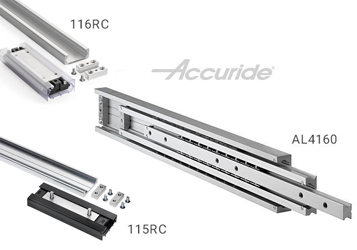 Accuride has introduced three new heavy duty aluminum slides
