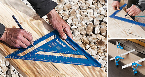 Empire Level introduces new TRUE BLUE rafter, framing and combination squares