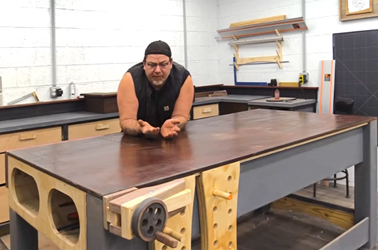 Izzy Swan has a new torsion box woodworking workbench