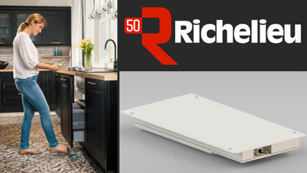 Richelieu Hardware introduces the hands-free Libero door opener for kitchen cabinets