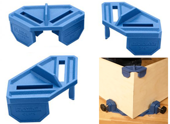 Rockler Woodworking's new Clamp-It Clips hold panels for assembly