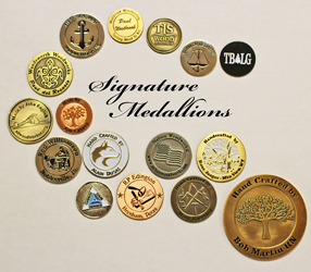 Signature Medallions lets woodworkers sign their work with metal inserts