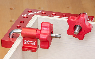Woodpeckers new Clamping Square Plus holds parts for assembly