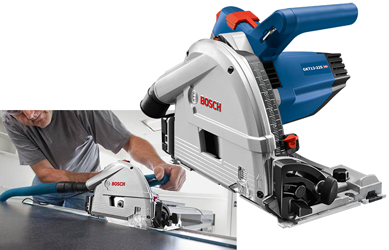 The Bosch GKT13-225 Track Saw with Plunge Action delivers precision and power
