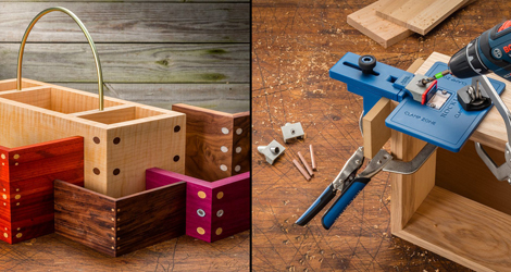 Rockler has developed a new jig to add decorative details to the mitered corners of boxes