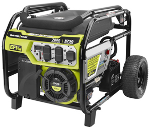 The RYOBI 7000 Watt Electronic Fuel Injection Generator With CO Sensing Technology