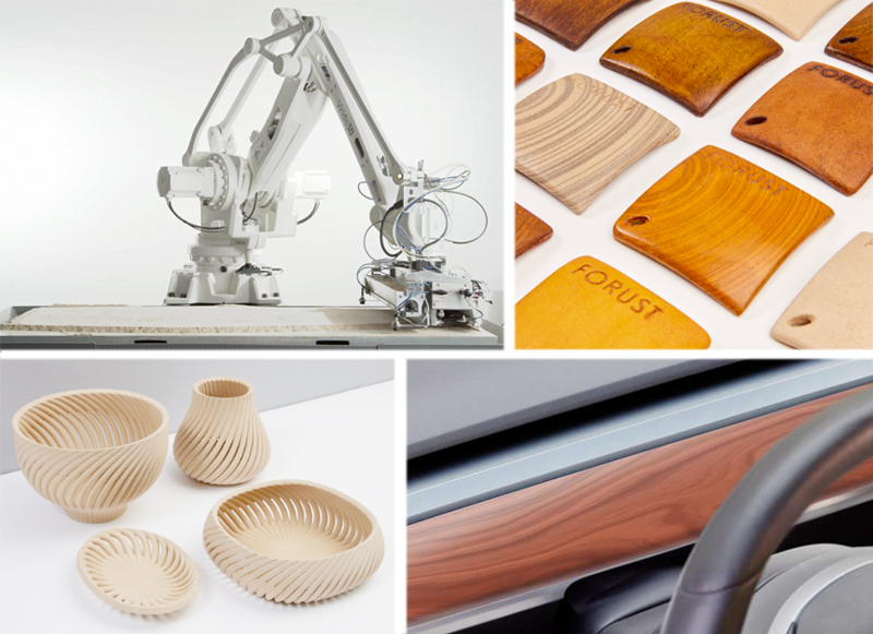 Forust 3D Printing in wood