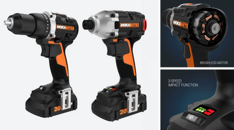 Worx WX960L kit with drill and impact driver