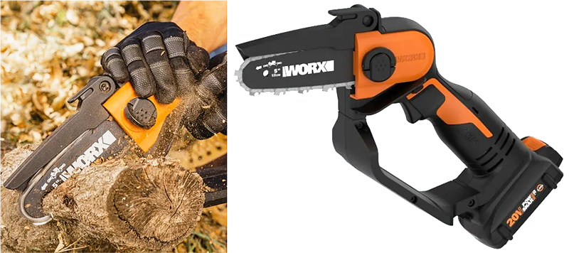 The WG324 chain saw from Worx
