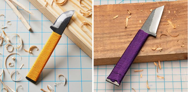 Japanese Curved Bladed Carving Knife from Garrett Wade