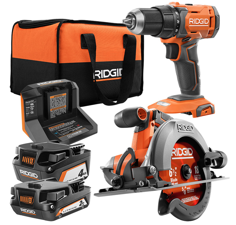 18V Saw and Drill Combo Kit from RIDGID