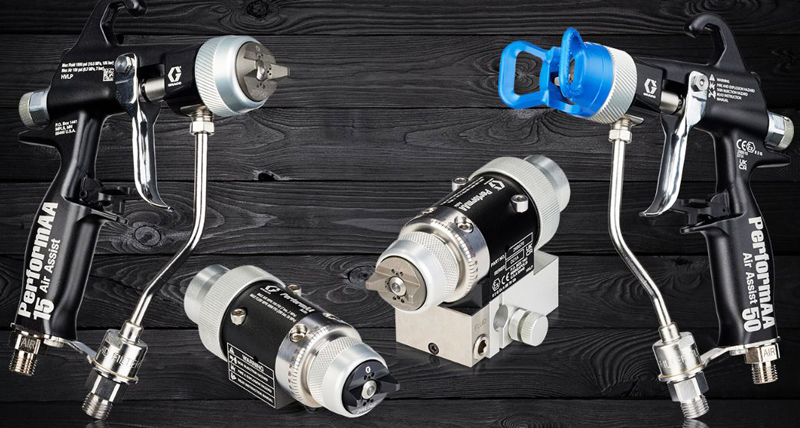 PerformAA Spray Guns from Graco Have Material-Specific Caps
