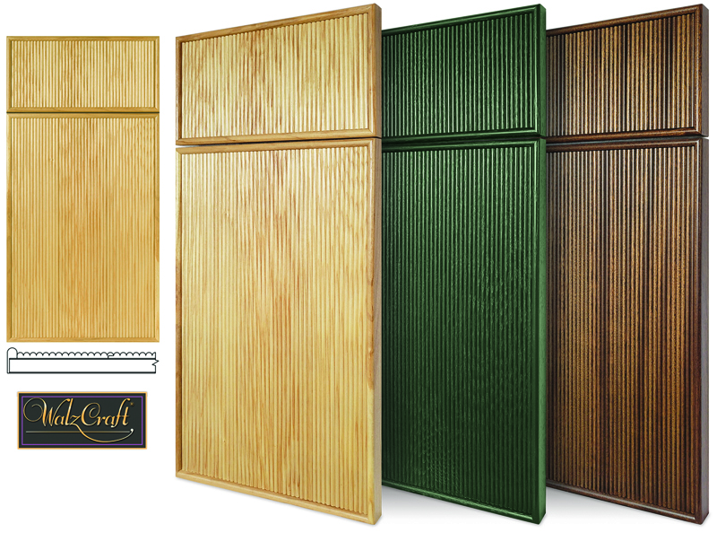 Continuous Bead or Reeded Cabinet Doors and Drawer Fronts from WalzCraft
