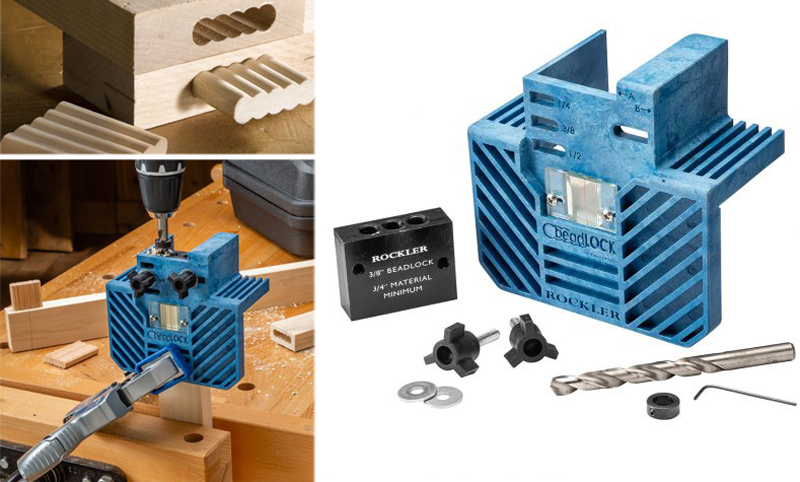 Rockler Beadlock Pro Jig With 3/8 Kit and Case