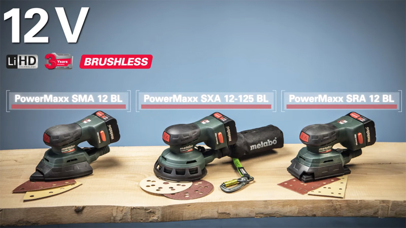New Cordless 12 Volt Sanders from Metabo
