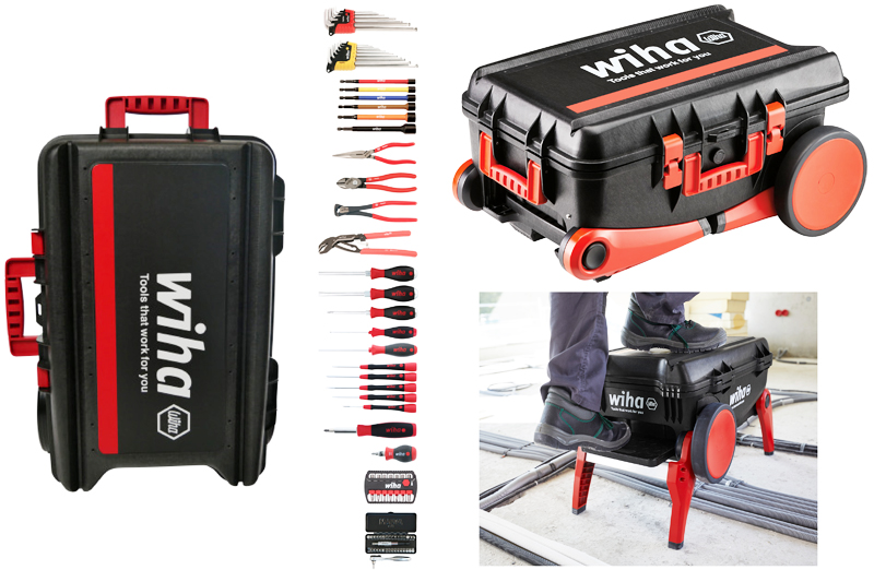 Wiha Tools Complete Hand Tool Kit in a Rolling Case 91567